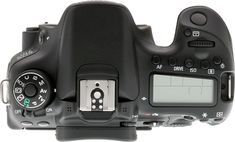 Canon 70D review -- Top view