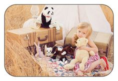 A little Girl with her stuffed animal family in Spokane WA by @Nancy Caissie Yours Photography