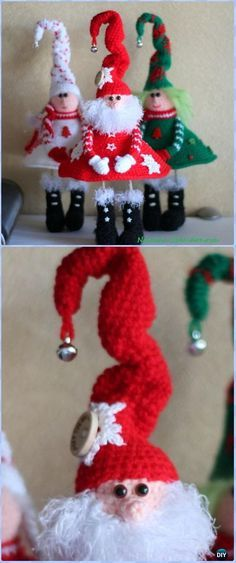 Original Crochet Santa Claus in Boots Free Pattern - Crochet Santa Clause Free Patterns