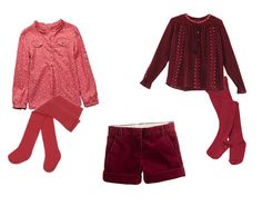 #shorts #blouse #stockings #shirt #bordeaux #burgundy #pink #winter #girl #kids #fashion #children #clothes