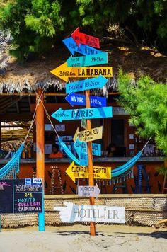 Beach Bar in Mancora, Peru  ★