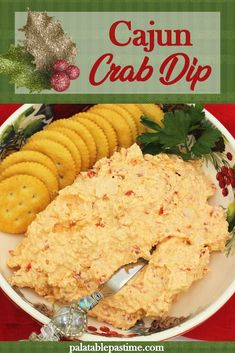 Cold Dip Recipes, Best Dip Recipes, Best Seafood Recipes, Easy Delicious Recipes, Tasty, Favorite Recipes, Yummy Food, Cajun Crab Dip, Seafood Dip