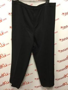 Ellen Tracy Size 22W Black Pants