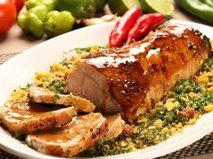 The cooking bag is key to tender, flavorful pork loin. Sliced onion, sage, and thyme with a layer of apple nectar give the pork an exceptional balance of sweet and savory while the bag keeps all the flavors together.