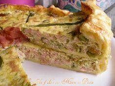 Quiche asparagi e mortadella,ricetta salata