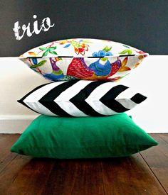 Velvet cushions - via DTLL.