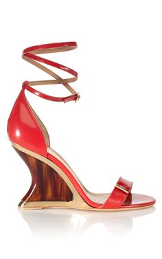 Space Wedge in Lava; Salvatore Ferragamo, Resort 2013.