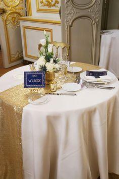 Mariage Art Deco - Navy & Gold - Dessine-moi une etoile (Design et Papeterie) - Aude Rose (Fleurs) - Salons France Amérique (Lieu de réception)