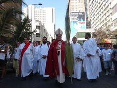 Fiesta De Ramos Presidida Por Monseñor Ricardo Ezzati, Arzobispo De Santiago De Chile.