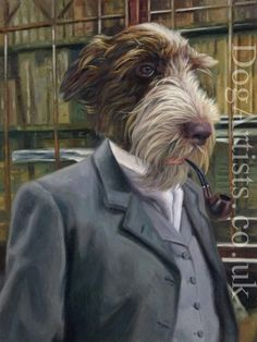 Anthropomorphic animals - Commission Anthropomophic dog paintings hand painted by top dog artists. Beautiful anthropomorphic art, custom made. Portraits From Photos, Dog Portraits, Creative Portraits, German Shepherd Painting, Dog Doctor, Dressed Up Dogs, Human Painting, Black Labs Dogs, Animal Dress Up
