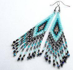 Long Dangle Earrings Tassel Earrings Boho Style Earrings