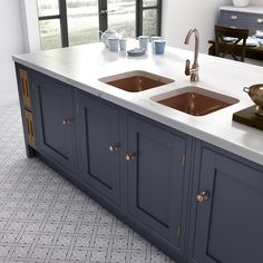 Helmsley: The New Kitchen On The Block Learn more about our latest kitchen from the Laura Ashley Kitchen Collection. Kitchen Buffet, Kitchen Chairs, Kitchen Shelves, Kitchen Flooring, Kitchen Furniture, New Kitchen, Kitchen Cabinets, Kitchen Ideas, Bath Cabinets