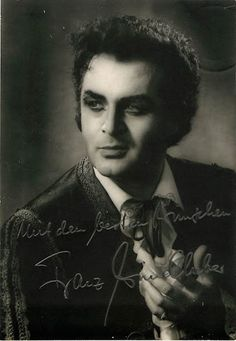 Signed photo of the German baritone shown as Escamillo in Bizet's Carmen. Stamped on verso by photographer Lieske. Size 4 x inches. Autograph Books, Classical Music, Opera, Film, Fictional Characters, German, Products, Movie, Deutsch