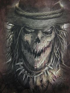 This Scary Scarecrow T-shirt is perfect for Halloween, wear it when taking the kids trick-or-treating, to school or work when you can't wear a costume or cotton, printed in USA! Dark Fantasy Art, Dark Art, Scarecrow Tattoo, Scary Scarecrow, Scary Halloween, Scarecrow Batman, Scarecrow Drawing, Halloween Costumes, Halloween Artwork