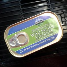 A can of sustainable happiness - our Wild Planet Sardines!