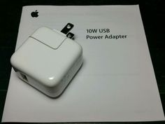 NEW - OEM 10w Apple iPad Wall Charger Authentic Original USB Power Adapter A1357