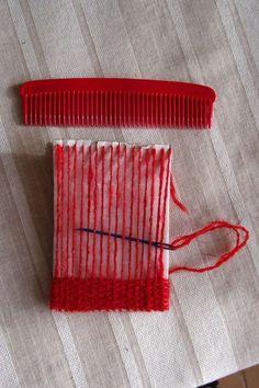 TUTO : Métier à tisser en carton pour réaliser un petit sac ou un pochon sans couture