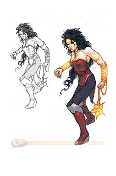 Wonder Woman 3000. Giving her a mace? Excellent decision.