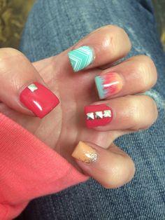 Spring Gel nails! ♡♡♡