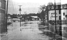 A view of Bridge Street at the Hotel Chester in Phoenixville after the flooding from Hurricane Agnes. From the Daily Republican.