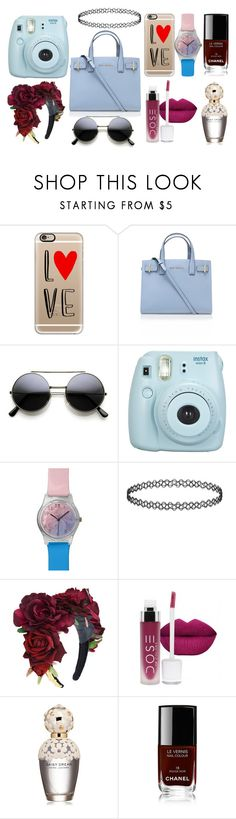 """""""whats in my tote bag"""" by terry-mae on Polyvore featuring Casetify, Kurt Geiger, May28th, Marc Jacobs, Chanel, women's clothing, women's fashion, women, female and woman"""