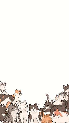 Weird Cat Pictures - Cat Furniture Catwalks - - Cat Photography Flowers - Orange Cat Crafts - Sassy Cat Names Cat Pattern Wallpaper, Cute Cat Wallpaper, Cute Wallpaper Backgrounds, Animal Wallpaper, Cute Cartoon Wallpapers, Disney Wallpaper, Wallpaper Doodle, Cat Background, Background Patterns