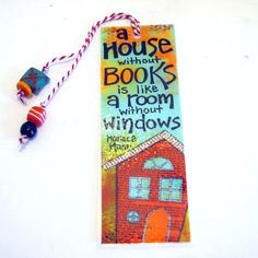 quote mixed media art print bookmark by fromvictoryroad on Etsy, $5.00