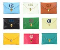 """love these new 11""""x7"""" monogrammed leather clutches from TPG and for $29.50 you cant beat them!"""