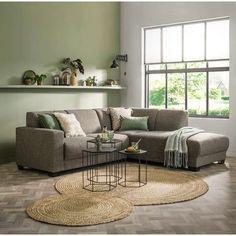 Vloerkleed Madras – naturel – cm – Finance is important Living Room Green, Living Room Colors, Home Living Room, Living Room Decor, Bedroom Decor, Diy Bed Frame, Corner Sofa, New Homes, Interior Design