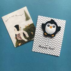 CHRISTMAS SALE! Felt Penguin Paper Clip / Planner Clip / Planner Accessory / Paperclip / Felt Paper Clip / Feltie Paper Clip / Felt Applique