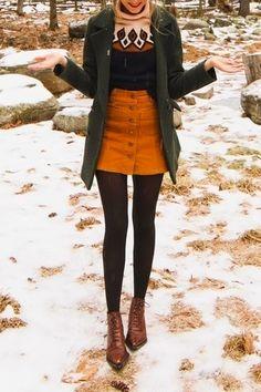 Snowy winter look - fashion - # snowy # . - Snowy winter look – fashion – # … – - Winter Skirt Outfit, Fall Winter Outfits, Autumn Winter Fashion, Spring Outfits, Fall Skirt Outfits, Winter Clothes, Winter Outfits With Skirts, Fall Skirts, Gamine Winter Outfits