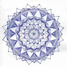 """hello there, and yes i'm a newbie.. I just addict mandala so much, so i try to make my own mandala. This one inspired from compass motive, the center of """"E"""" taken from my mother's name. Think..."""