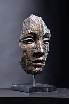 Fragments on Behance - Interesting Sculpture - . Fragments on Behance – Interesting Sculpture – Sculpture Metal, Sculptures Céramiques, Ceramic Art, Metal Art, Sculpting, Sculpture Portrait, Portrait Paintings, Abstract Portrait, Painting Abstract