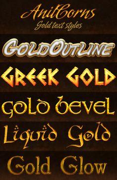 Gold styles by ~AnilCorn on deviantART