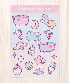 Pusheen Ice Cream Party sticker sheet
