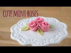 How to make a super cute mini sugar rose - CakesDecor