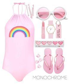 """""""Untitled #116"""" by juhirawal ❤ liked on Polyvore featuring Boohoo, BOBBY, ZeroUV, Forever 21, Various Projects, Laruze, claire's, Havaianas and H&M"""