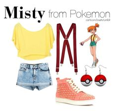 """""""Misty from Pokemon"""" by bforbel ❤ liked on Polyvore featuring Scoop, Marc by Marc Jacobs, Christian Louboutin and River Island"""