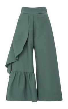 Cropped Ruffle Revel Pants by Rachel Comey Fashion Details, Look Fashion, Womens Fashion, Fashion Design, Fashion Pants, Hijab Fashion, Fashion Dresses, Essentiels Mode, Casual Outfits