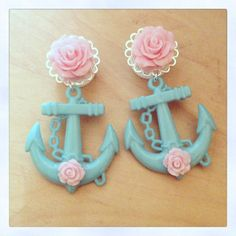 Mix n' Match Rose & Anchor Plugs/Earrings by Little Doe