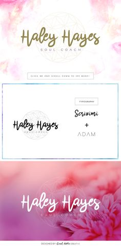 Haley Hayes Premade Logo by Coral Antler Creative on @creativemarket