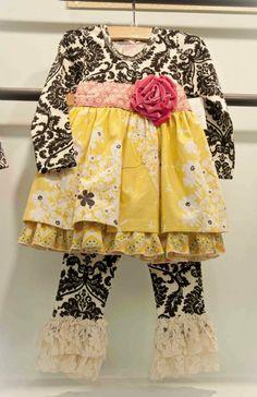 Giggle Moon Happy & Joyful Maddison Dress & Ruffle Pant Set Preorder 3 Months to 8 Years - Giggle Moon Clothing