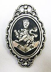Cullen Family Crest:  Each part of the crest represents something different: the lion represents strength and ferocity, which is a characteristic of the vampires. The hand is faith and sincerity, showing that the Cullens are loyal to each other. The trefoil at the bottom is perpetuality, which is lasting forever, showing the vampires' inability to die naturally.