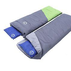 Sovepose Rektangulær sovepose Enkel -3 15 20 T/C Bomuld 218X150 Camping Fugtsikker Hold Varm 5773057 2017 – kr.494
