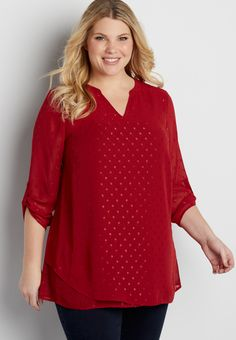 8f0438dbf84 the perfect plus size blouse with shimmering dots (original price