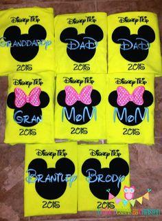 Matching mickey family shirts   www.facebook.com/divinedesignsbychristen Mickey Family Shirts, Mickey Mouse Shirts, Christening, Facebook, Disney, Design, Disney Art