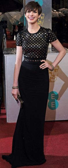 Anne Hathaway at the 2013 BAFTA's