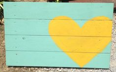 green yellow heart pallet wood headboard photo prop photography art photo booth. $50.00, via Etsy.