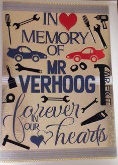 Deepest Sympathy A3 card Mr Fix It Cars Tool Guy Condolences Card, Deepest Sympathy, Car Tools, A3, Memories, Cards, Decor, Sympathy Card Messages, Memoirs