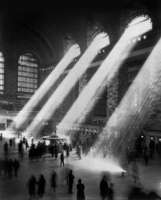 Grand central station 1941. The light doesn't stream though the windows anymore because the surrounding building are too tall - Imgur